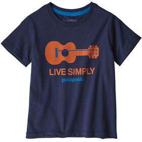 Patagonia Kids Live Simply Organic T-Shirt Guitar/Neo Navy